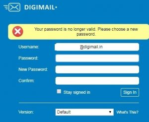 digimail first time login