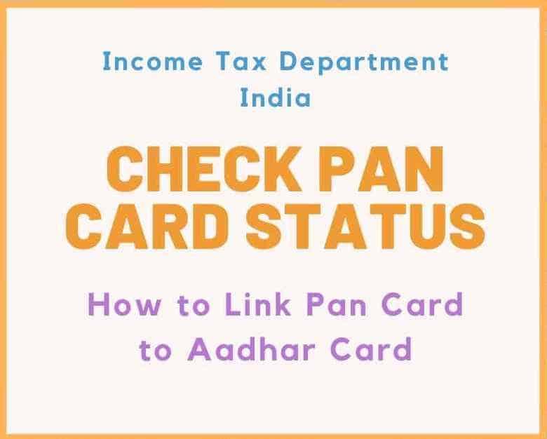 Check Pan card status- Pan aadhar link